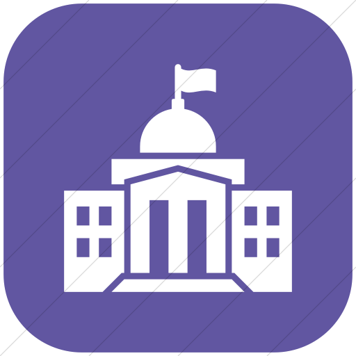 Flat Rounded Square White On Purple Iconathon Federal
