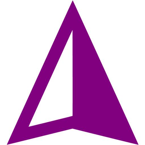 Purple Gps Device Icon