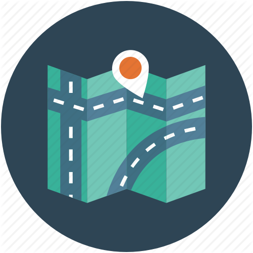 Gps Road Map Icon Free Icons