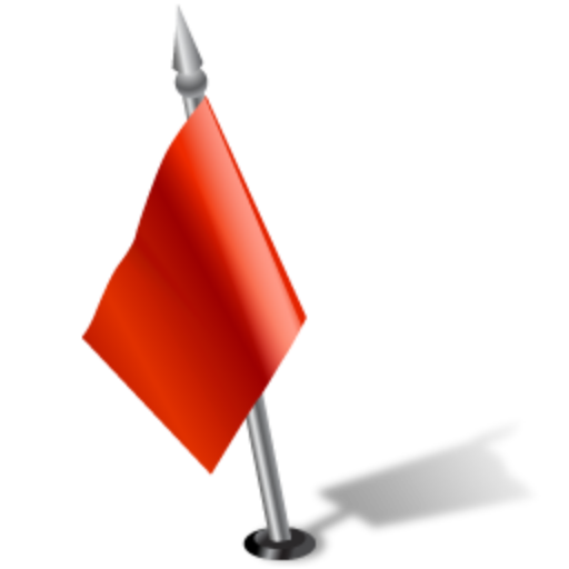 Flag, Left, Red Icon Free Of Gisgpsmap Icons