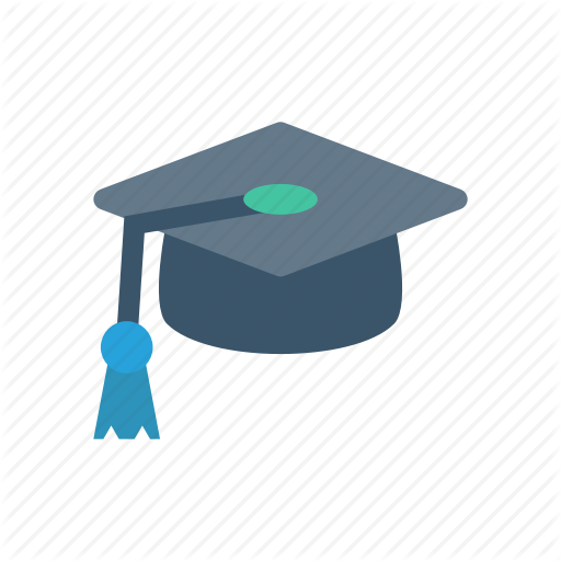 Cap, Degree, Graduation, Hat Icon