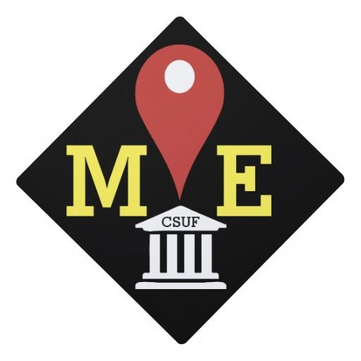 Funny Map Icon Graduation Cap Topper Personalize With Your Own