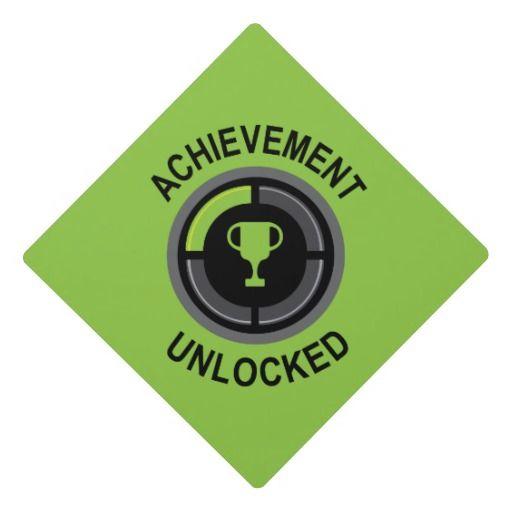 Achievement Unlocked Graduation Cap Topper Icon Graduation Cap