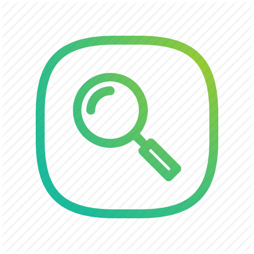 App, Ecommerce, Glass, Gradient, Greenish, Lineart, Magnifier