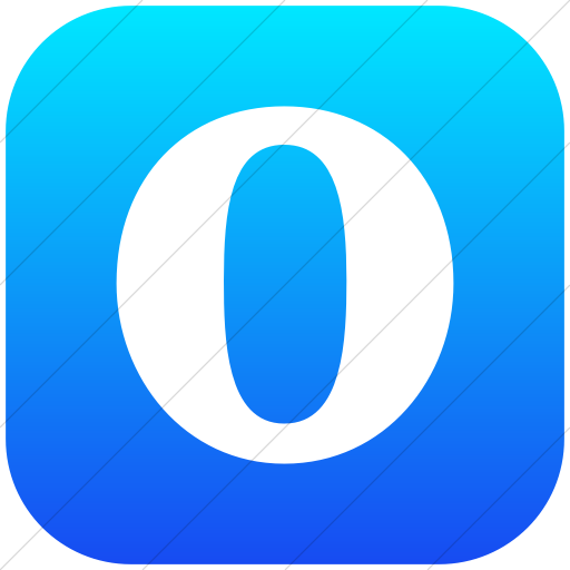 Flat Rounded Square White On Ios Blue Gradient Social