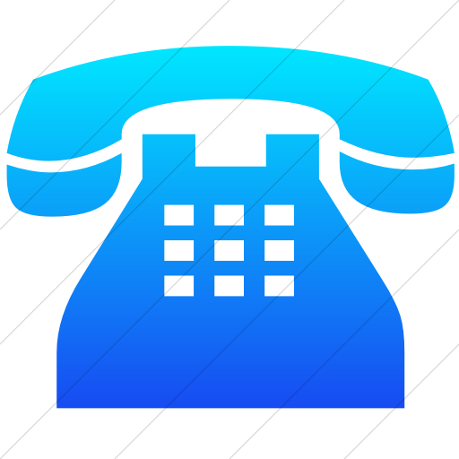 Simple Ios Blue Gradient Classica Traditional Telephone