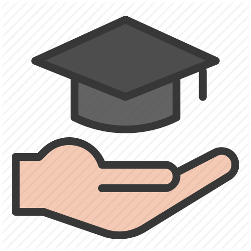 E Learning, Education, Graduation Cap, Hand, Learning Icon