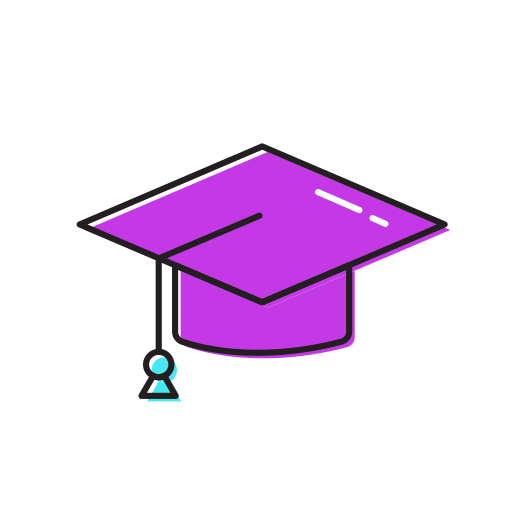 Graduation, Hat Icon Free Of Colourful Education Icons