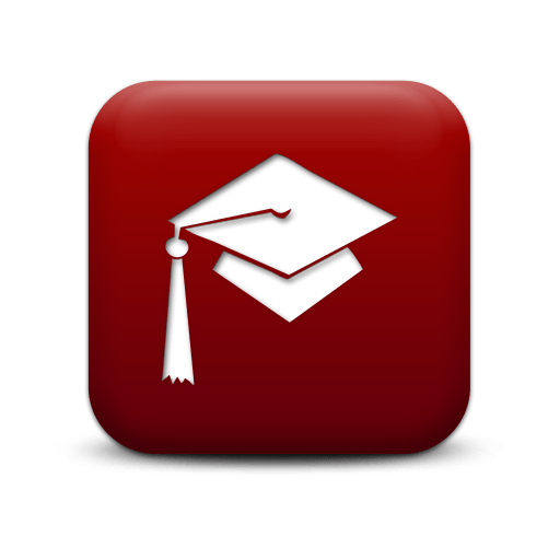 Simple Red Square Icon People Things Hat Graduation Femaura