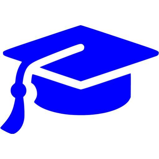 Blue Graduation Cap Icon