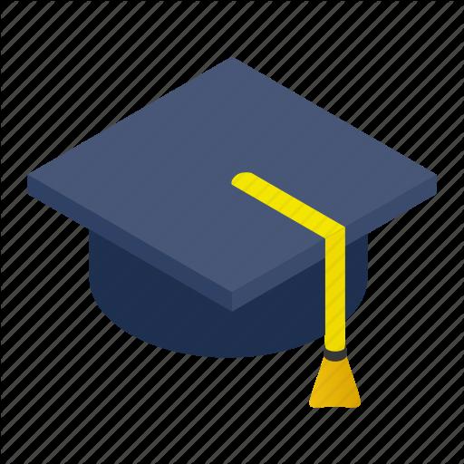 Cap, Ceremony, Graduate, Hat, Isometric, School, Student Icon