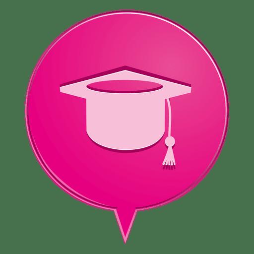 Graduate Hat Bubble Icon