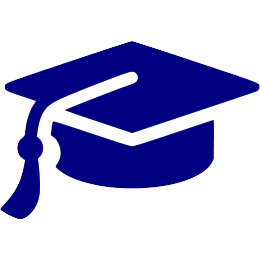 Navy Blue Graduation Cap Icon