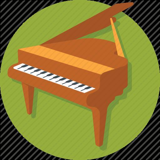 Grand Piano, Instruments, Music, Piano, Pianoforte Icon