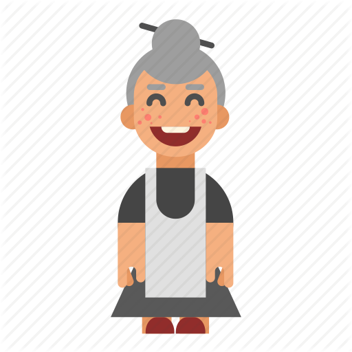 Asian, Female, Grandma, Lady, Laughing, Old, Smiling Icon