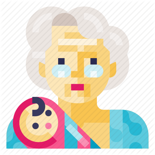Baby, Child, Grandma, Infant, Kid, Newborn, Toddler Icon