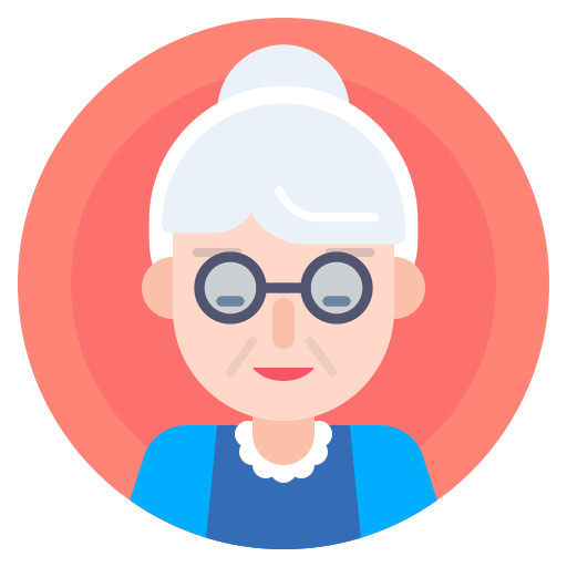 Avatar, Elderly, Grandma, Nanny Icon Free Of Xmas Giveaway