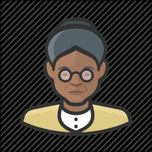 African, Avatar, Avatars, Elderly, Grandmother, Granny, Woman Icon