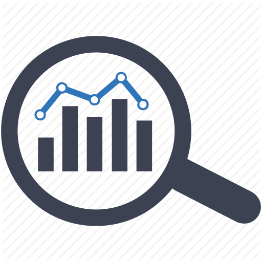 Analytics, Diagram, Graph, Market, Overview, Report, Search Icon