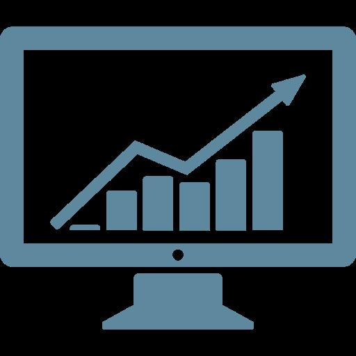Business, Chart, Computer, Data, Finance, Graph, Statistics Icon