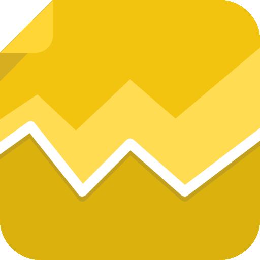 Graph Icon Square Iconset Flat