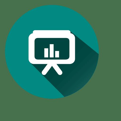 Graph Tv Circle Icon