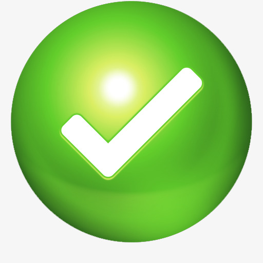 Green Registration Successful Icons, Green, Registration Success