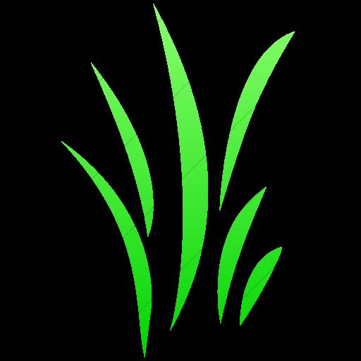 Simple Ios Neon Green Gradient Classica Grass Icon