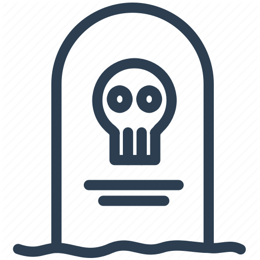 Death, Grave, Gravestone, Graveyard, Halloween, Rip, Tombstone Icon
