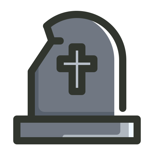 Cemetery, Gravestone, Graveyard, Rip, Tombstone Icon Free