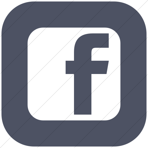 Flat Rounded Square White On Blue Gray Social Media