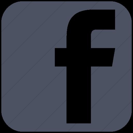 Simple Blue Gray Social Media Facebook Square Icon