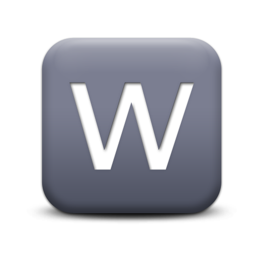 Letter W Icons