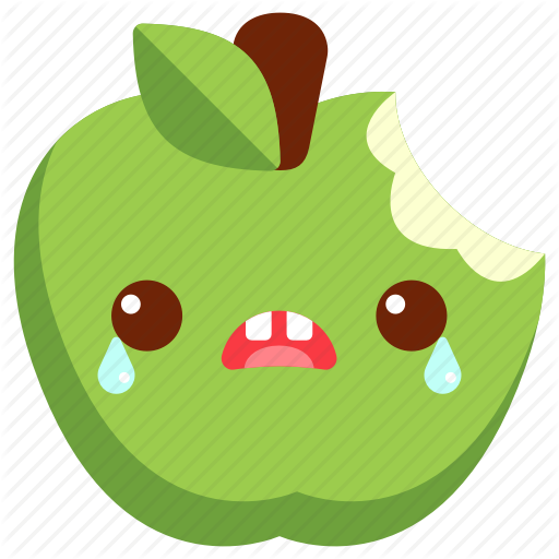 Apple, Avatar, Bite, Cartoon, Character, Cute, Green Apple Icon