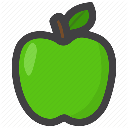 Food, Fruit, Green Apple Icon