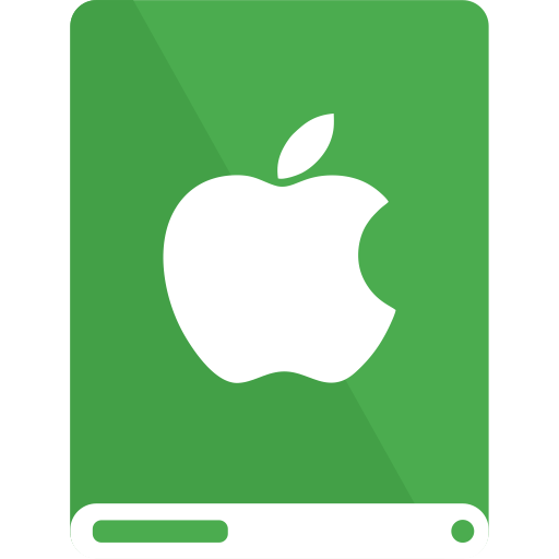 Green, Drive, White, Apple Icon