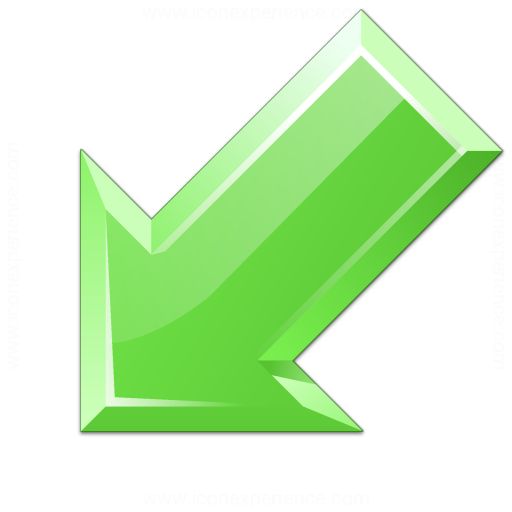 Iconexperience V Collection Arrow Down Left Green Icon