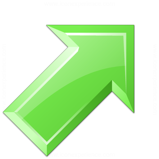 Iconexperience V Collection Arrow Up Right Green Icon