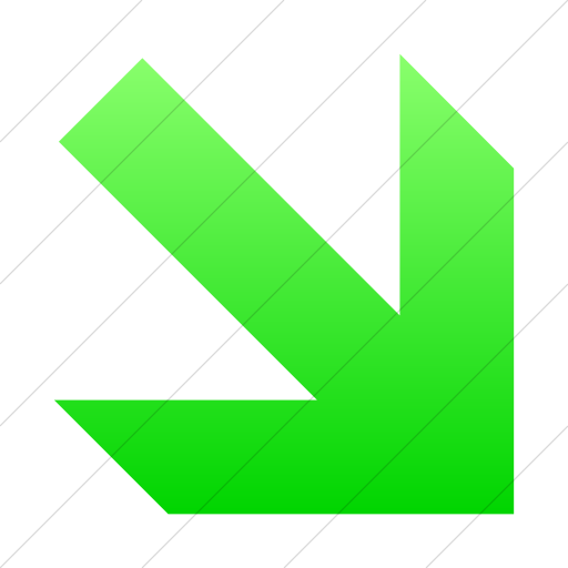 Simple Ios Neon Green Gradient Aiga Right And Down