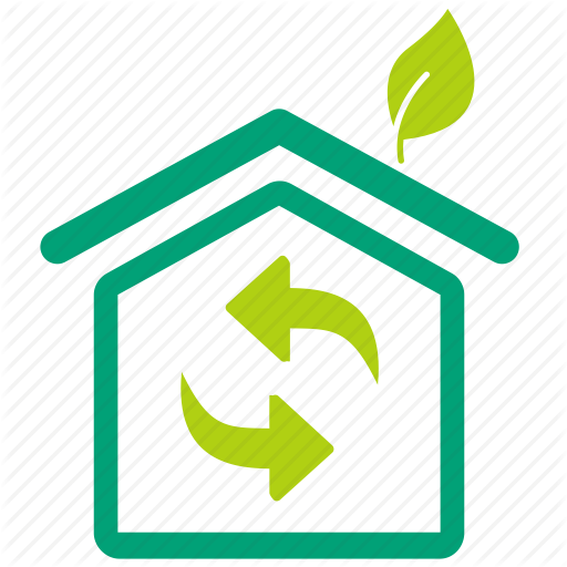 Air Flow, Building, Eco, Eco Home, Greenhouse, House, Nature Icon