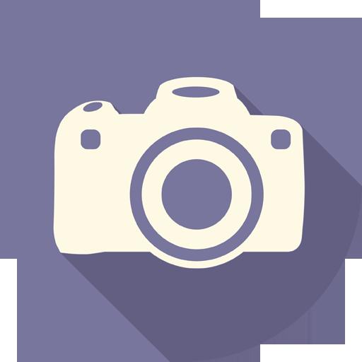 Camera Icon Long Shadow Media Iconset Pelfusion