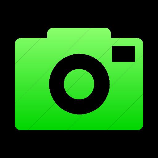 Simple Ios Neon Green Gradient Foundation Camera Icon