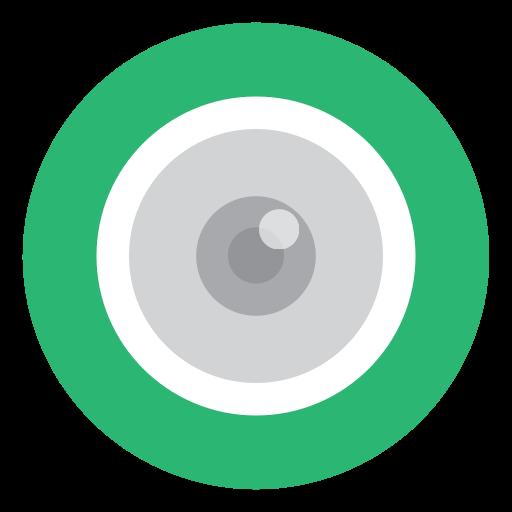 Green, Eye, Cctv, Camera Icon