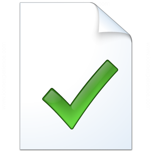Iconexperience V Collection Document Check Icon