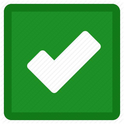 Accept, Check, Checkmark, Green, Ok, Square, Tick, Yes Icon