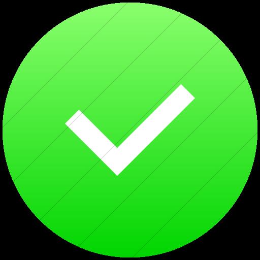 Flat Circle White On Ios Neon Green Gradient Raphael