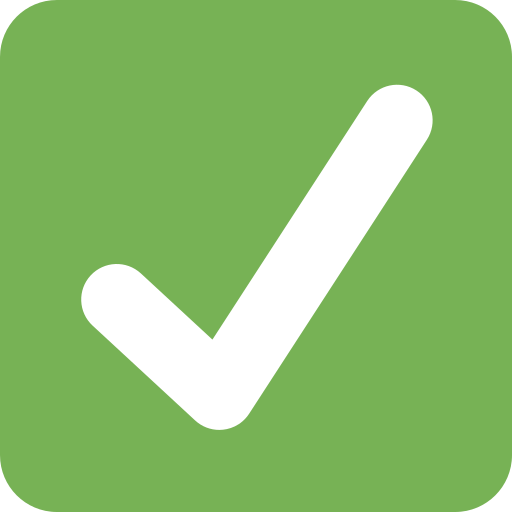 White Heavy Check Mark Emoji