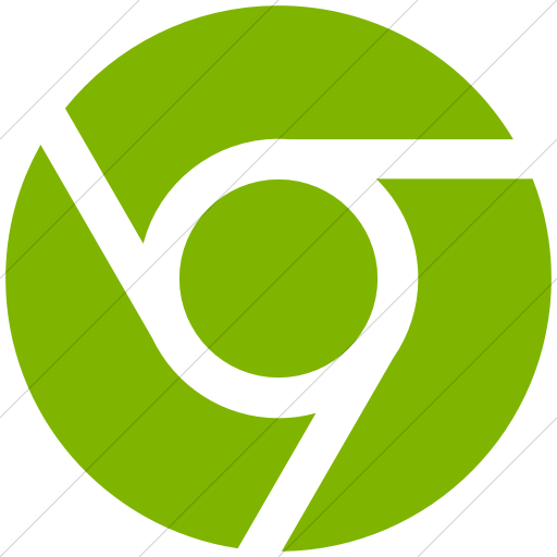 Simple Green Social Media Chrome Icon