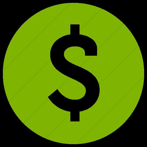 Simple Green Raphael Dollar Sign Icon