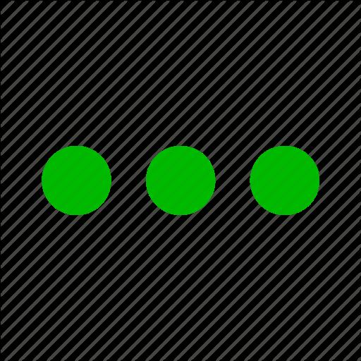 Continue, Dot, Dots, Ellipsis, Green, List, Menu Icon